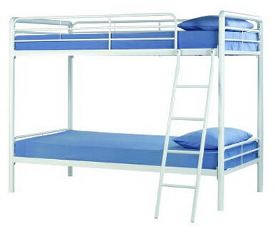 DHP Twin Over Twin, Metal Bunk Bed - Black @ Amazon