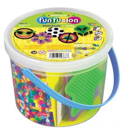 #1 Best Seller! Perler Beads 6,000 Count Bucket-Multi Mix