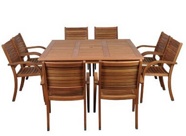 Up to 55% off Wood Outdoor Patio Sets @ Amazon.com