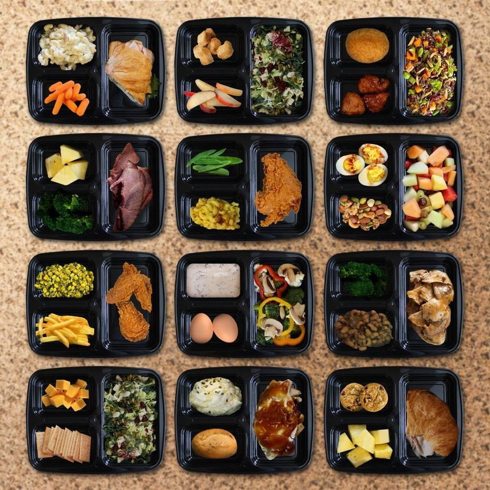 ContainersHub- Bento Box Tupperware Divided Storage Containers with Lids