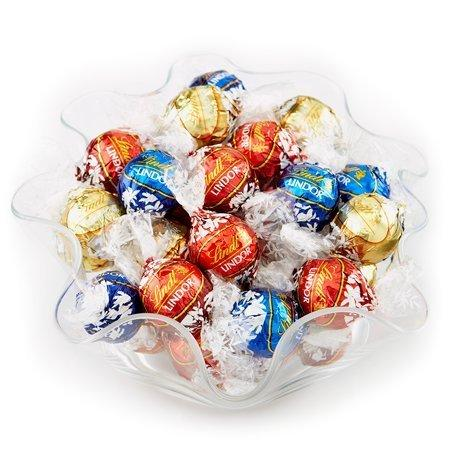 $15.99 Lindt LINDOR Assorted Chocolate Truffles 120 count (40 Milk 40 Dark & 40 White)