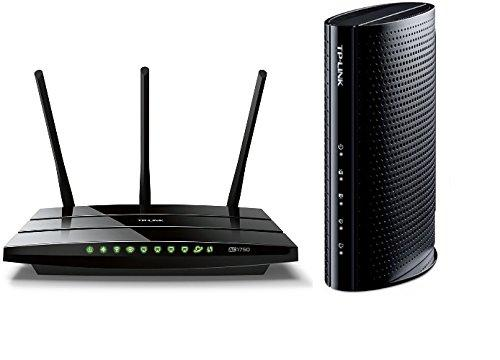 TP-LINK Archer C7 AC1750 Dual Band Router and TP-LINK DOCSIS 3.0 Cable Modem