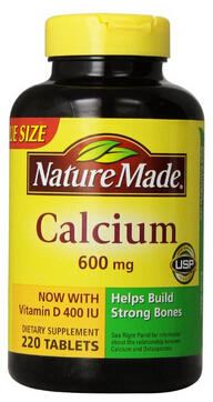 $7.55 Nature Made Calcium 600 Mg, with Vitamin D3, Value Size, 220-Count