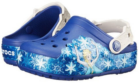 Crocs Girls' CrocsLights Frozen Clog