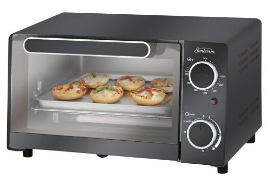 Sunbeam 4-Slice Toaster Oven - Black