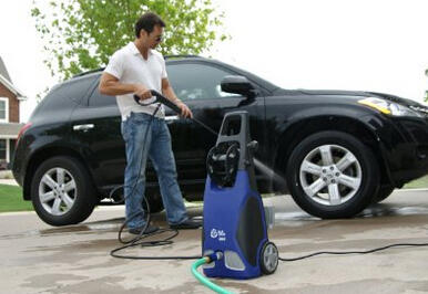 $108.99 AR Blue Clean AR383 1,900 PSI 1.5 GPM 14 Amp Electric Pressure Washer with Hose Reel
