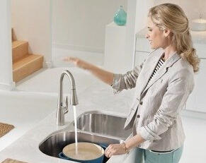 Up to 60% off Select Moen Kitchen Faucets Featuring MotionSense @ Amazon.com