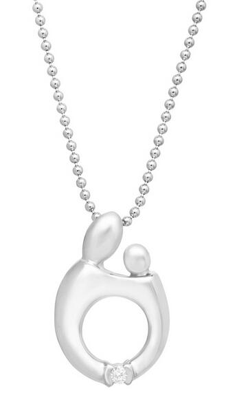 Mother and Child Pendant with Diamond