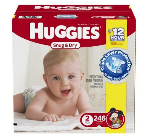Extra 20% Off + $3 Off Huggies Snug and Dry Diapers @ Amazon