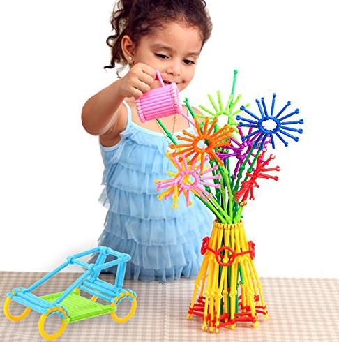 205Pcs bars 8 colors different shape Creative Toys Building Blocks 3D Puzzle @ Amazon