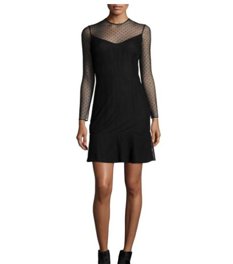 Rag & Bone Charlotte Swiss Dot Dress, Black @ Neiman Marcus