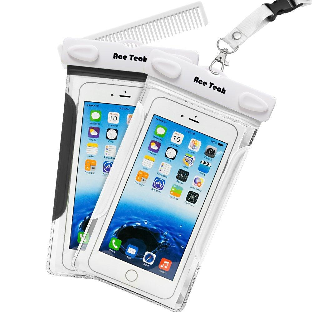 2 Pack Ace Teah Clear Transparent Universal Waterproof Case