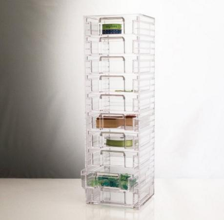 $19.99 Clear Organizer with 10 Removable Drawers