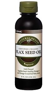 Natural Brand Certified Organic Flax Seed Oil