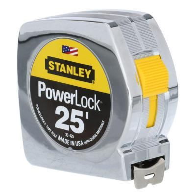 $4.88 Stanley PowerLock 25 ft. Tape Measure