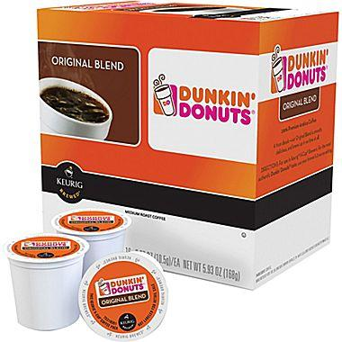 $6.99 Dunkin' Donuts Keurig® K-Cup® Pods, Original Blend Regular 16-Count
