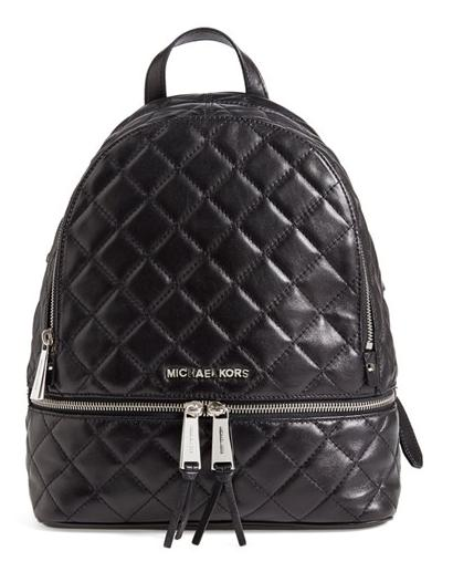 MICHAEL Michael Kors 'Medium Rhea Zip' Quilted Backpack