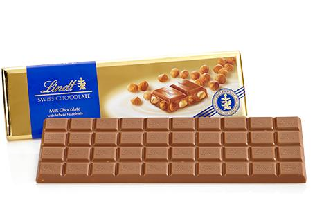 Lindt Swiss Premium Milk Chocolate with Whole Hazelnuts, 10.58-Ounce Packages (Pack of 5)