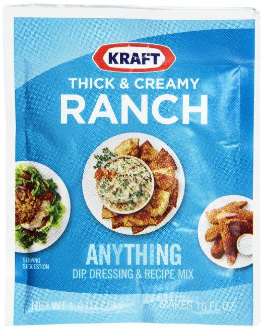 $0.71 Kraft Ranch Dip, Dressing and Recipe Mix Packet, Thick and Creamy, 1.0 Ounce
