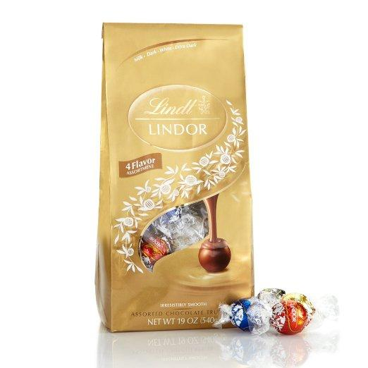 Lightning deal-Lindt Lindor Four Flavors Assorted Chocolate Truffles, 19 oz.