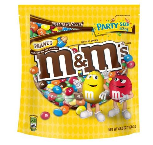 $4.08 lightning deal-M&M'S Peanut Chocolate Candy Party Size 42-Ounce Bag