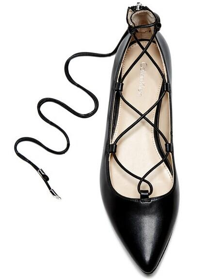 Calvin Klein Harlin Lace Pointed Toe Flat @ Nordstrom Rack