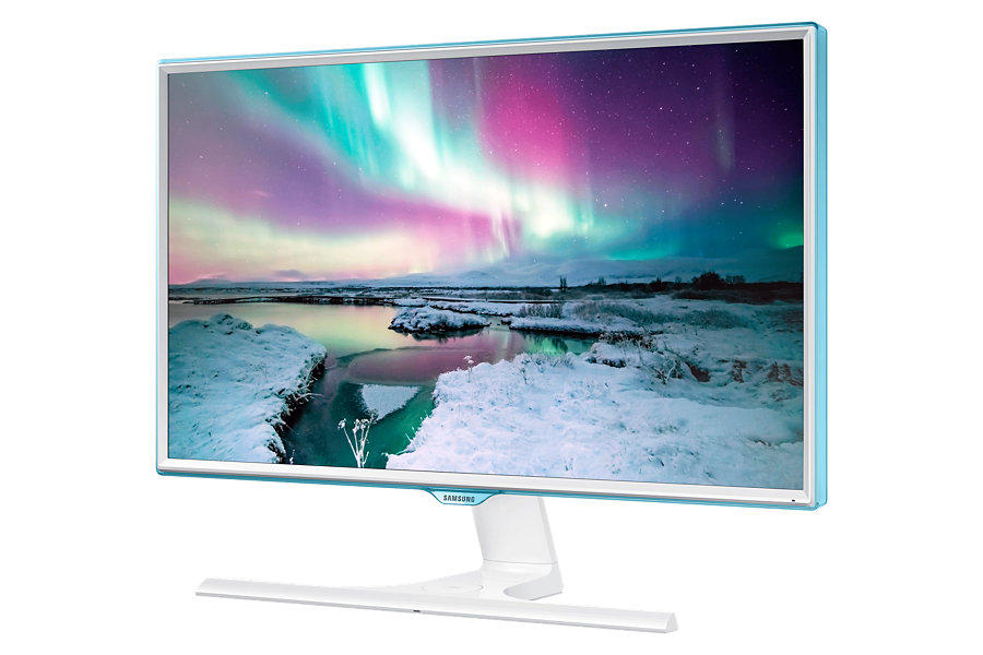 """$139.99 SAMSUNG S24E370DL Glossy White PLS 23.6"""" 4ms Widescreen LED Backlight LCD Monitor"""