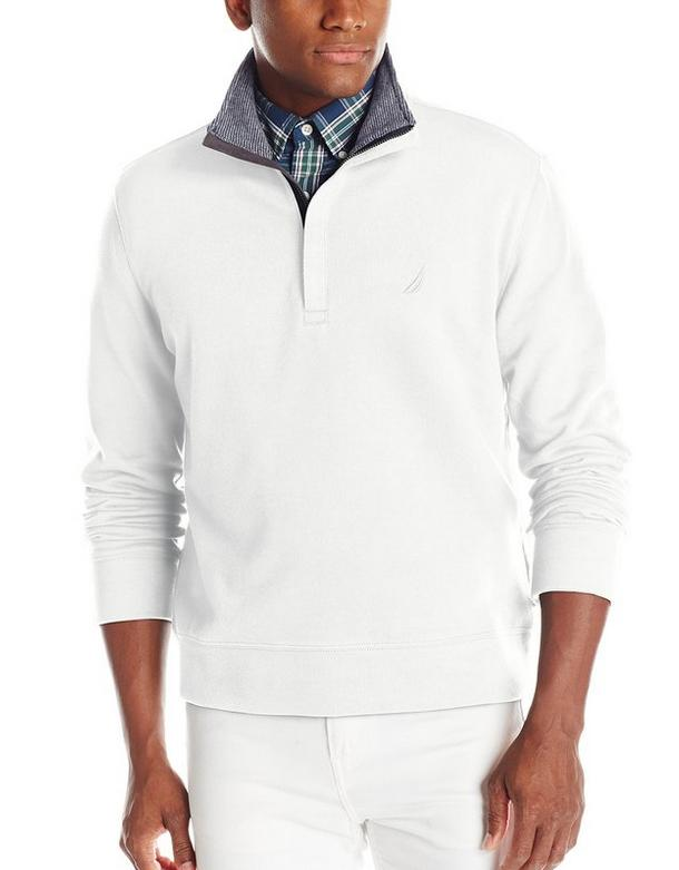 Nautica Men's 1/4 Zip Mock Neck Sweater with Placket