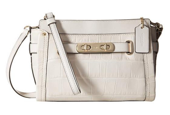 COACH Embossed Croc Swagger Wristlet