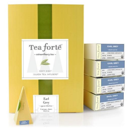$33.6 Tea Forte EVENT BOX Earl Grey Black Tea, 48 Handcrafted Pyramid Tea Infusers