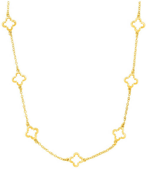 $29 Clover Station Chain Necklace