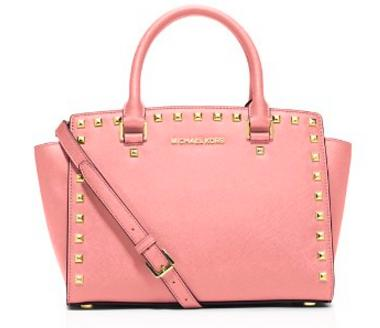 MICHAEL Michael Kors Selma Stud Medium Top Zip Satchel