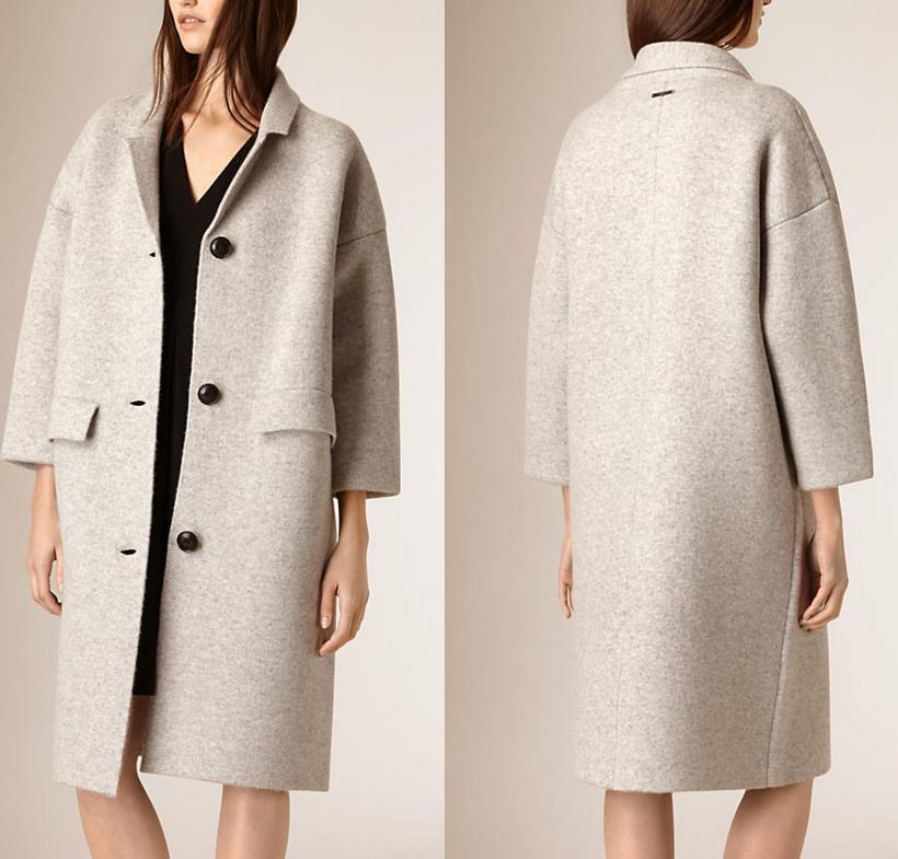 $647.49 Burberry Brit Wool & Cashmere Knit Long Coat On Sale @ Nordstrom