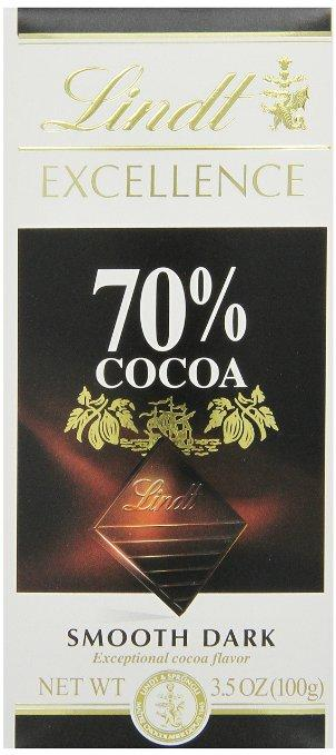 Lindt Excellence Supreme Dark Chocolate 70% Cocoa, 3.5-Ounce Packages (Pack of 12)