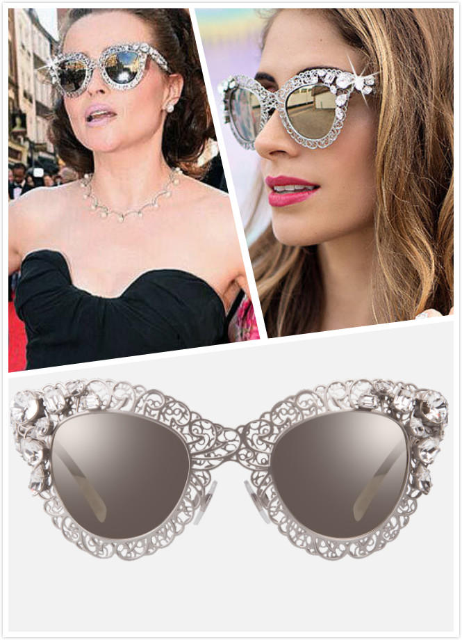 $244.99 DOLCE & GABBANA CRYSTAL FILIGREE WOMEN'S SUNGLASSES @ Luxomo