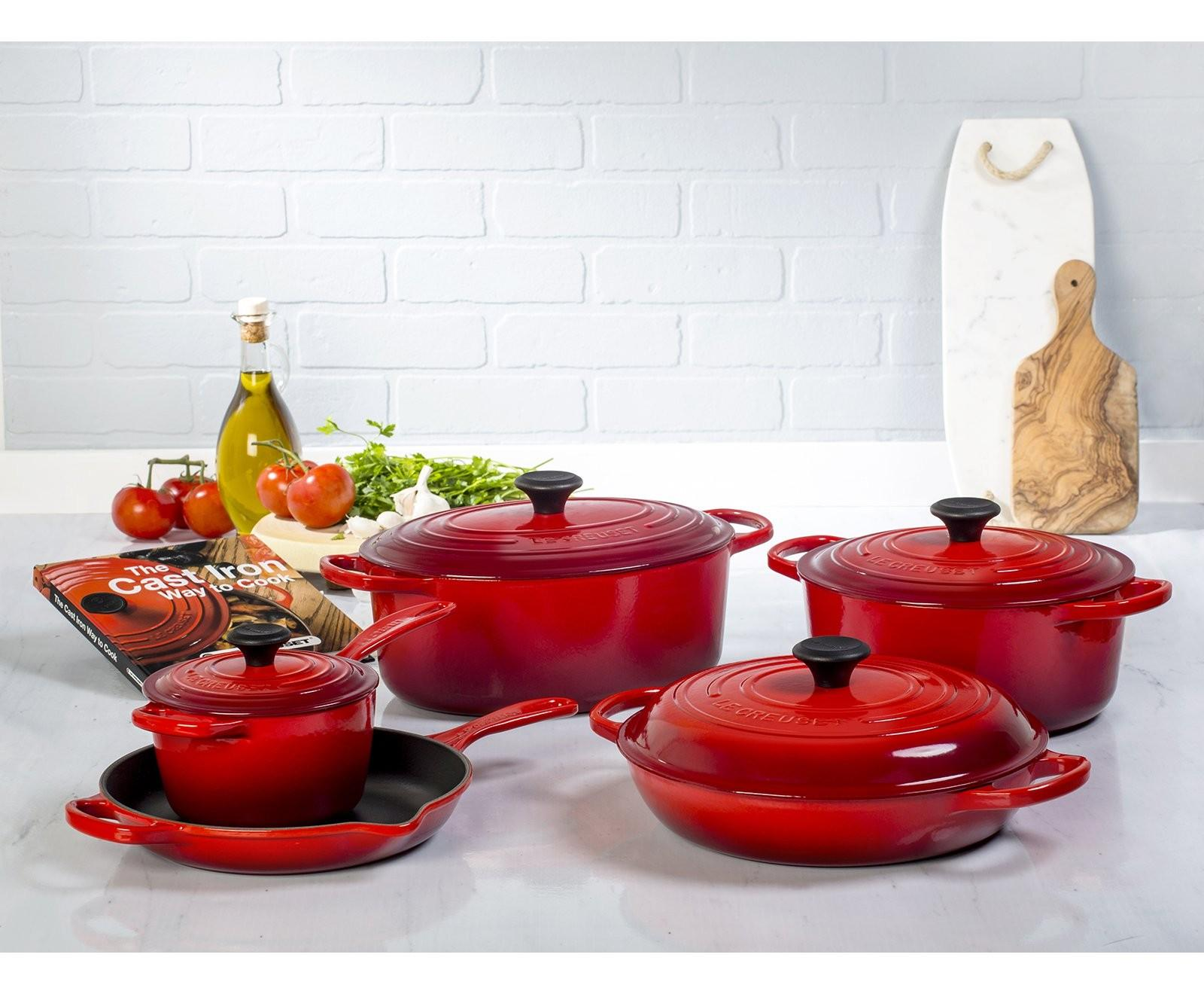 Get a Free Petite Flower CocotteULTIMATE CAST IRON SET Sale @ Le Creuset
