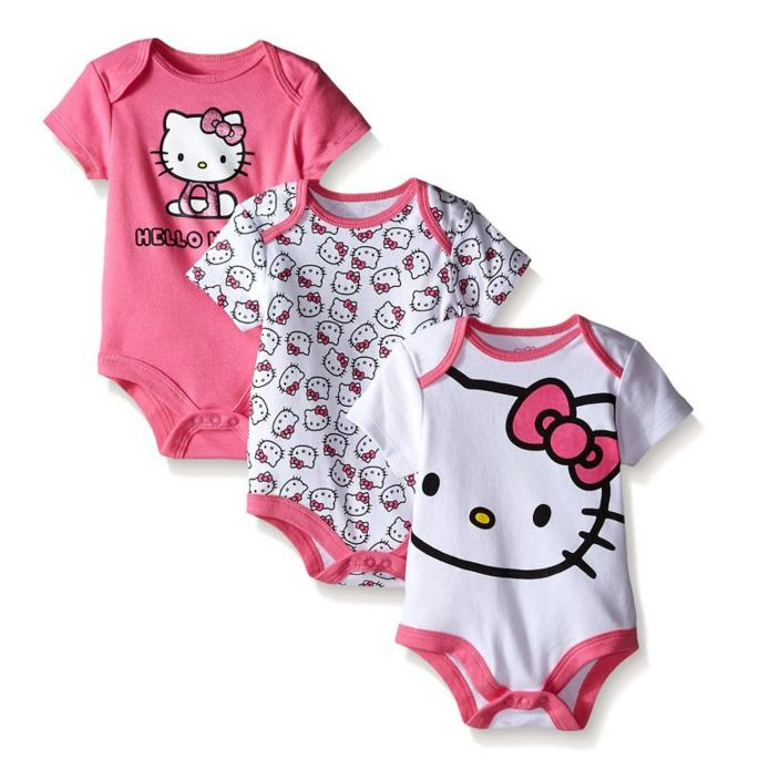 From $6.54 Hello Kitty Baby-Girls Bodysuits (Pack of 3)