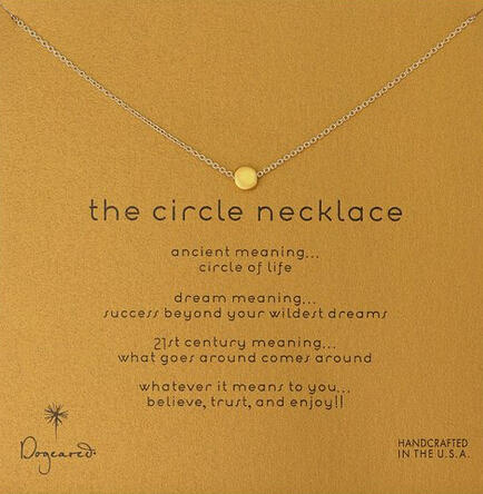 Dogeared Karma The Circle Necklace Gold-Plated Silver, 16