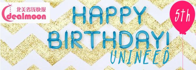 Up to 70% off + Extra 16% Off Happy Birthday Sale @ unineed.com