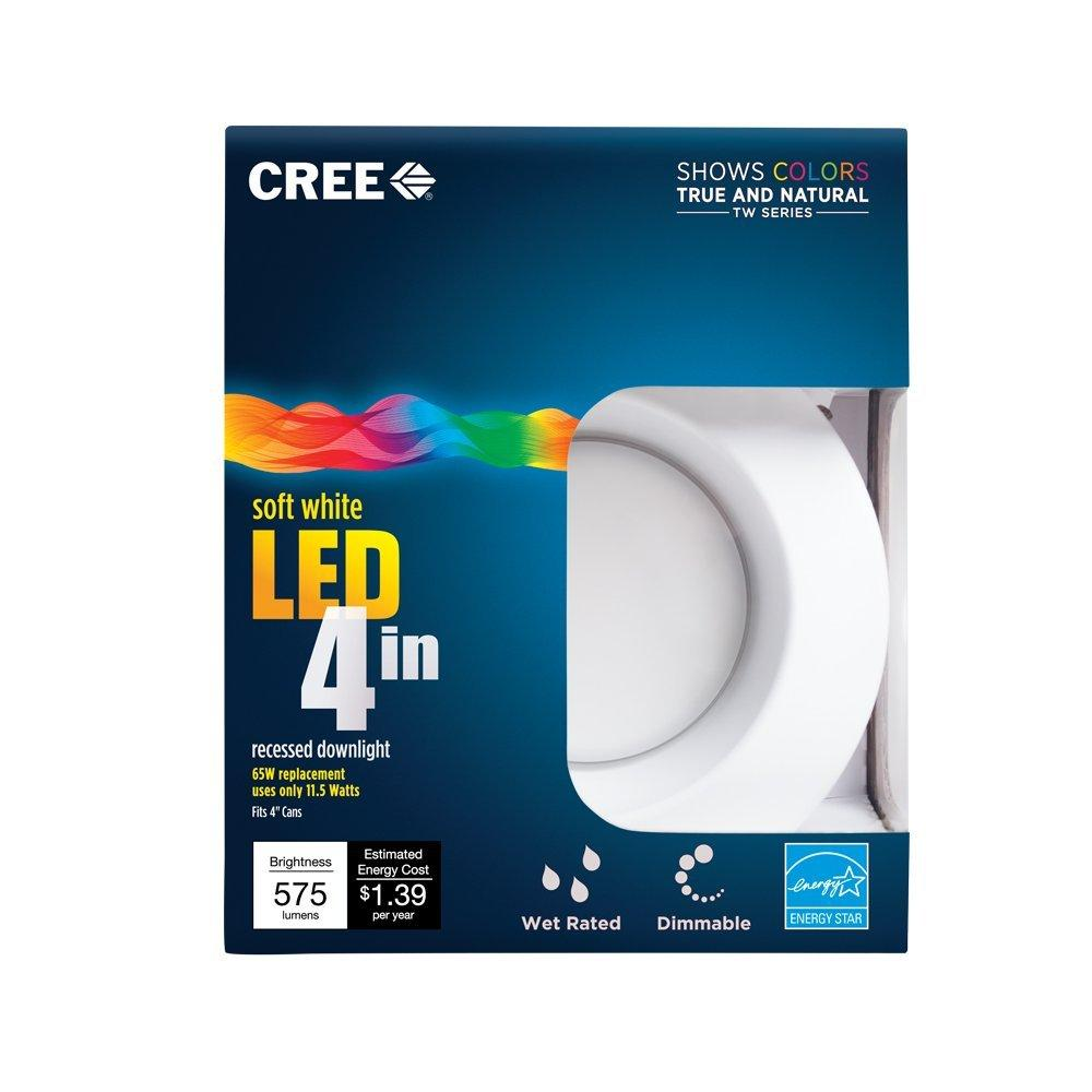 Cree TW Series 4 in. 65W Equivalent Soft White (2700K) LED Retrofit Recessed Downlight