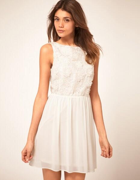 From $10.5 White Dress @ ASOS