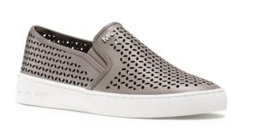 Michael Michael Kors Olivia Leather Slip-On Sneaker