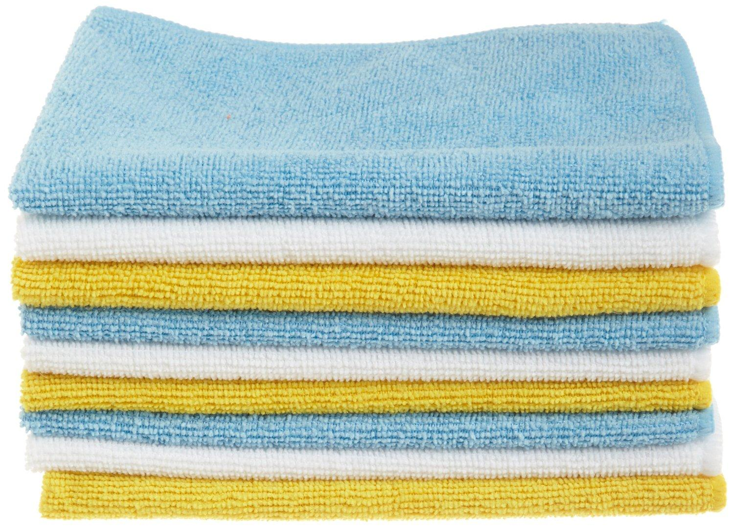$8.4 AmazonBasics Microfiber Cleaning Cloth - 24 Pack