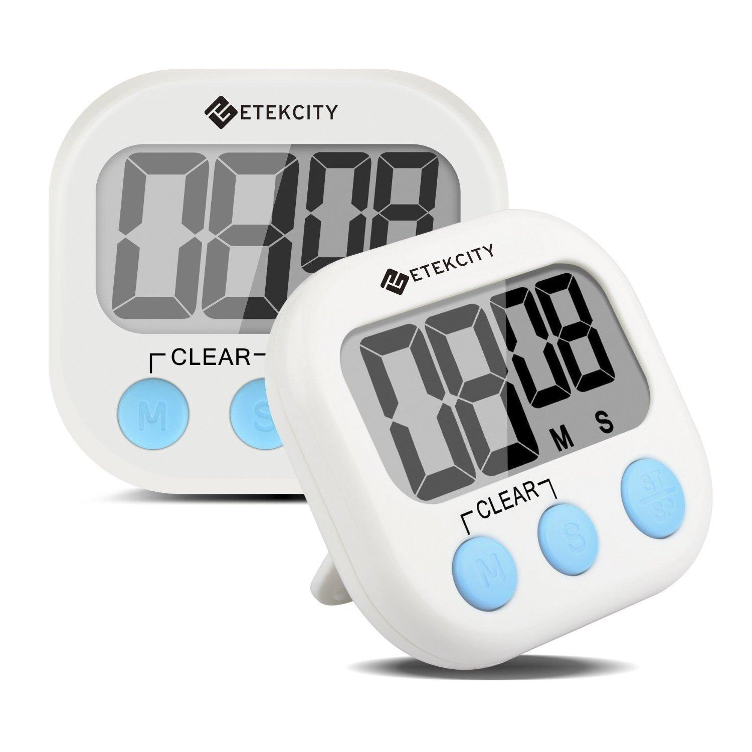 2 Pack Etekcity Digital Kitchen Timer