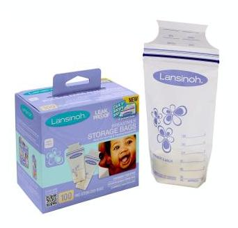 $10.63 + Free Shipping Lansinoh Breastmilk Storage Bags, 100 Count