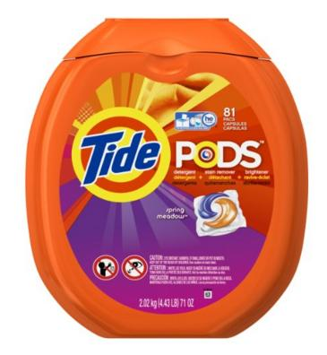 $13.8 Tide PODS Spring Meadow HE Turbo Laundry Detergent Pacs 81-load Tub