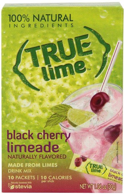 True Lime Limeade Stick Pack, Black Cherry, 10 Count