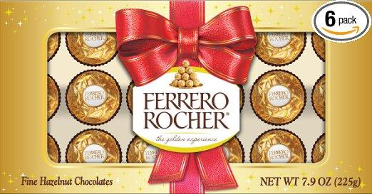 Ferrero Rocher Holiday Candy, 7.9 Ounce (Pack of 6)
