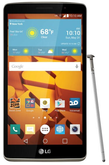 Boost Mobile - LG G Stylo 4G with 8GB Memory No-Contract Cell Phone