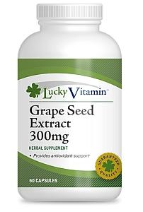 LuckyVitamin Grape Seed Extract 300mg, 60 Capsules @ GNC